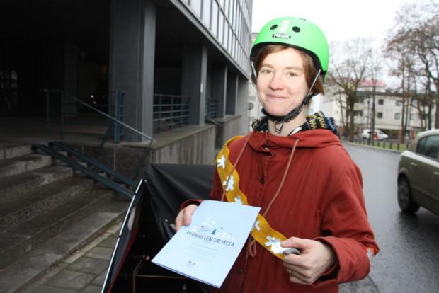 Hämeenlinnassa on tällä hetkellä otollinen ilmapiiri pyöräilyvaikuttamiselle, kiittelee Maria Pilvimaa.