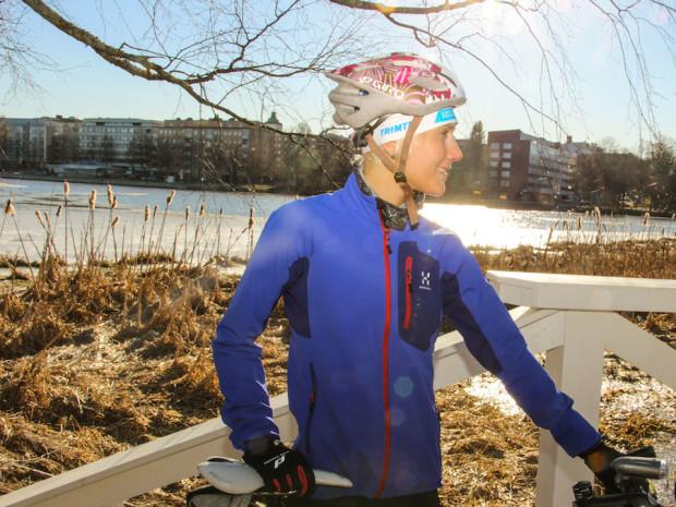 Lyhyeksi jäänyt talvi suosii nyt pyöräilyn ulkoharjoittelua.