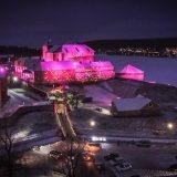 Hämeen linnan jouluvalaisussa näkyvät myös kilpailuvoittajien ideat